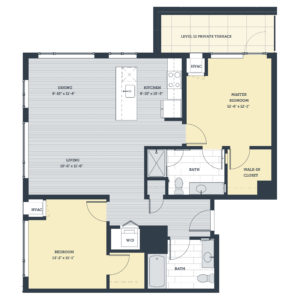 Two Bedroom 2B Floor Plan