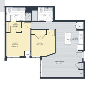 Two Bedroom 2C Floor Plan