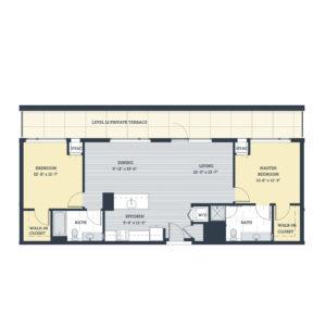 Two Bedroom 2E Floor Plan