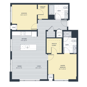 Two Bedroom 2G Floor Plan
