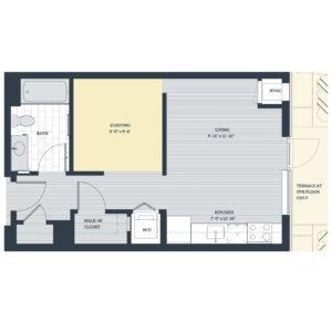 One Bedroom Open Concept OB Floor Plan