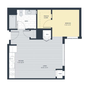 One Bedroom OD Floor Plan