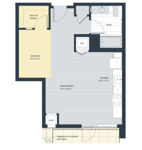 One Bedroom OE Floor Plan